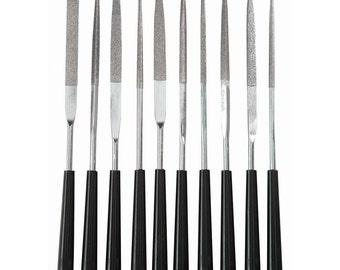 Diamond Grit Needle Files 10pcs