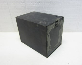 Vintage Metal Box / Military Metal Box / Receipt Holder