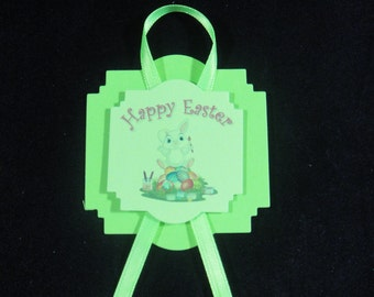 Green Happy Easter Tag - Quantity 8