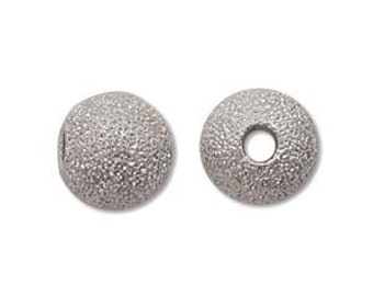 Stardust-8mm Round Beads-Silver-Quantity 12
