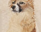 Custom Pet Portrait on Cotton Sweater DOG FACE design of your own dog!