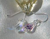 Sterling silver Crystal ab swarovski teardrop earrings