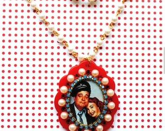 Swarovski Crystal Honeymooners Cameo Necklace Set