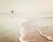 """Surfer Wall Art, Surf Photography, Abstract, Beige Beach Decor, Beach Wall Art, Waves, Surf, California Surfer, Sandy Shores """"Sunset Surf"""""""