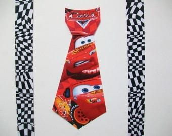 DIY No-Sew Disney Cars Movie Tie and Suspenders Fabric Applique - Iron On