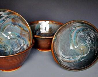 Dark Swirl Miso Soup Bowl