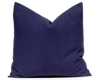 Euro Sham Pillow, Throw Pillow, Decorative Pillow Cover Solid Navy Blue One Blue Pillow Cover, Cushion Covers, Nautical Decor Beach Decor