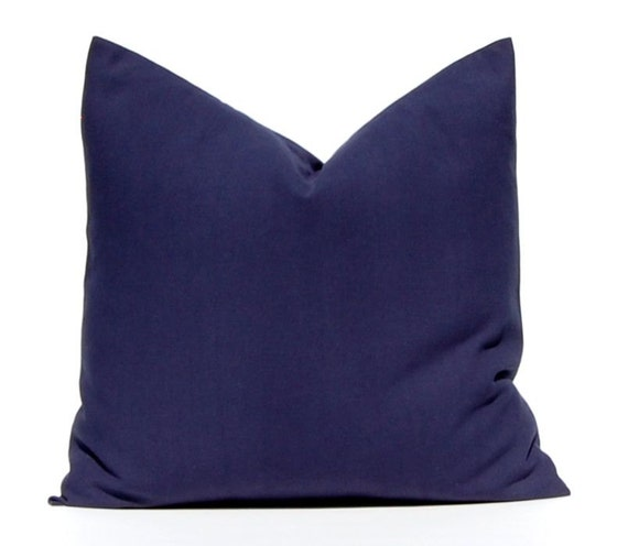 Solid Navy Blue Pillow Throw Pillow Decorative Pillow Cover