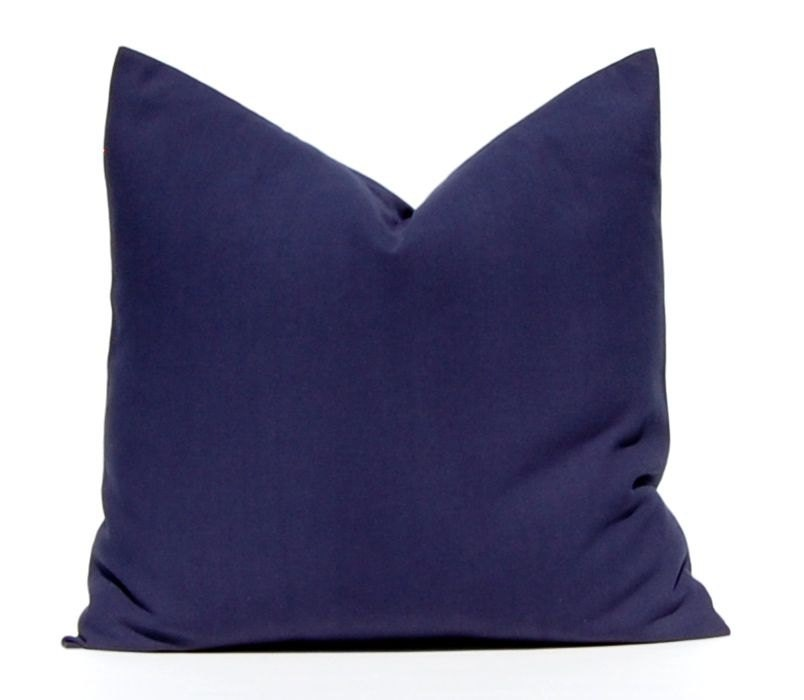 Navy Blue Throw Pillow Covers : Solid Navy Blue Pillow Throw Pillow Decorative Pillow Cover