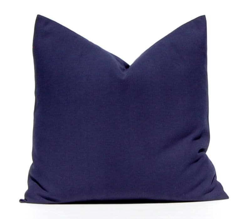 Navy Blue Decorative Pillow Covers : Solid Navy Blue Pillow Throw Pillow Decorative Pillow Cover