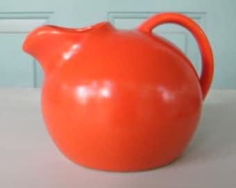 Vintage Pitcher Ball Shape Orange