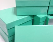 10 Pack - Teal Blue Boxes (3.75 x 3.75 x 2 in.)