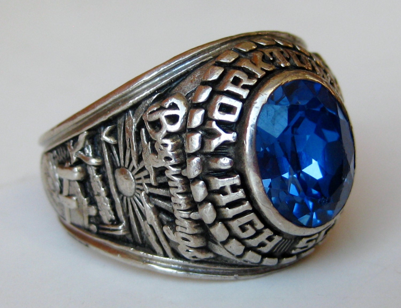 Vintage Class Ring 1985 Yorktown High School by SoCalJewelBox
