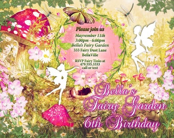 Fairy, Fairies, Fairy Garden Party Invitation, Fairy Invitations, Birthday Invitations, Shower Invitations, Fairy Party
