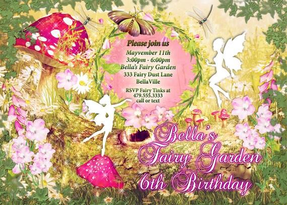 fairy fairies fairy garden party invitation fairy. Black Bedroom Furniture Sets. Home Design Ideas