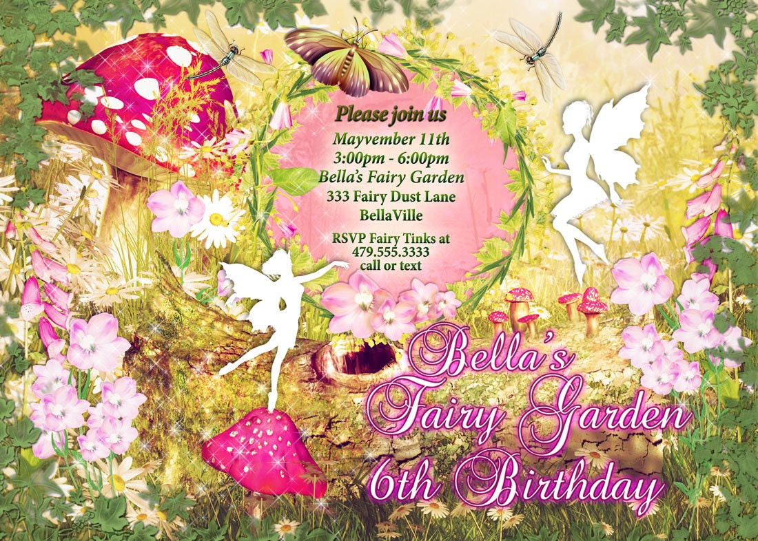 Fairy Fairies Fairy Garden Party Invitation Fairy