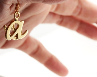 Personalized gold two initial necklace letters -mothers necklace-mom birthday-Wedding anniversary -family necklace-Children initials pendant