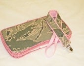 LAST ONE 2 Piece Set Air Force ABU Wipes Case and Paci Clip Girls