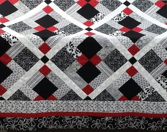 Popular Items For Black White Quilt On Etsy