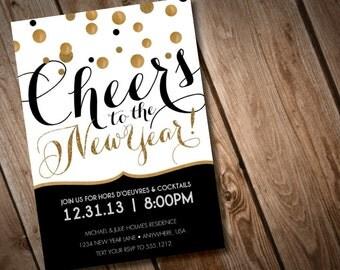 DIY Printable New Years Invitation