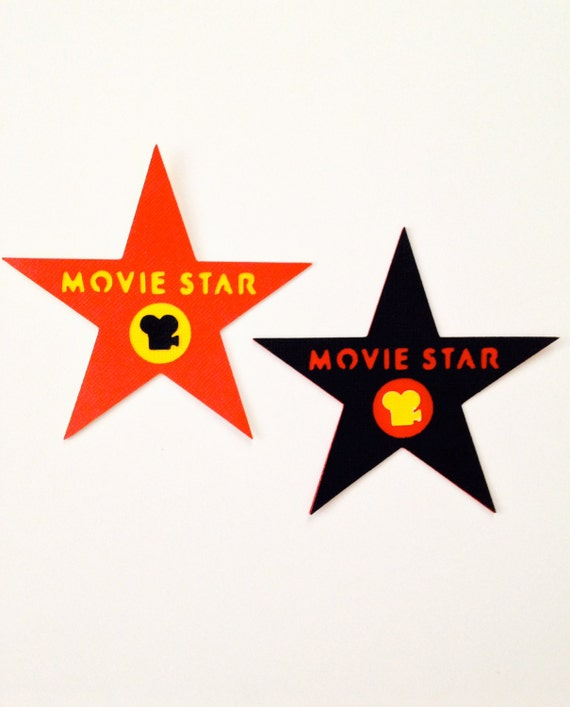 """10 Movie Star die cut at 3.5"""" - perfect for graduation - hollywood glam parties - great for kids and adults events"""