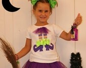 Witch Feet Shirt - Cute Purple Tulle Witch Shirt - Infant Toddler Youth Girls