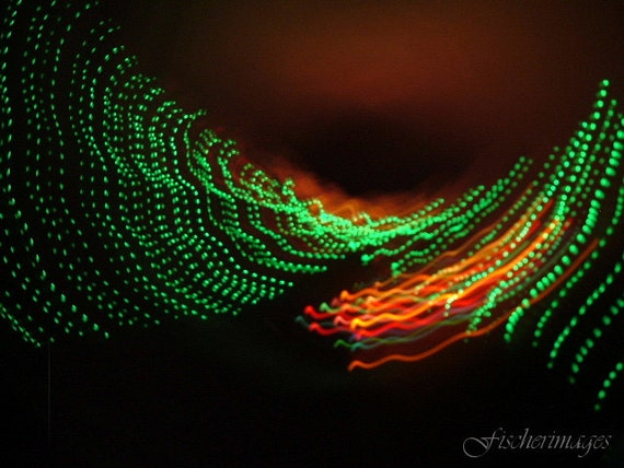 Colorful Abstract Wave of Lights Wall Art Home Decor Photo Print Fine Art Photography