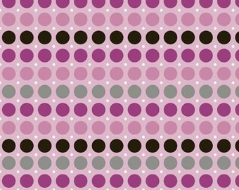 Riley Blake Fabric - 1 Yard of Andrea Victoria Dots in Fuchsia