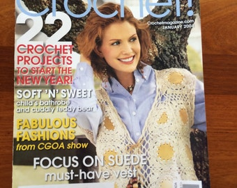Crochet! January 2004 with over 22 projects