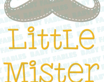 Little Brother Iron on Transfer Little Mister Big Sister Little Mister to a Big Sister Baby Announcement Birth iron on Mustache Baby Boy