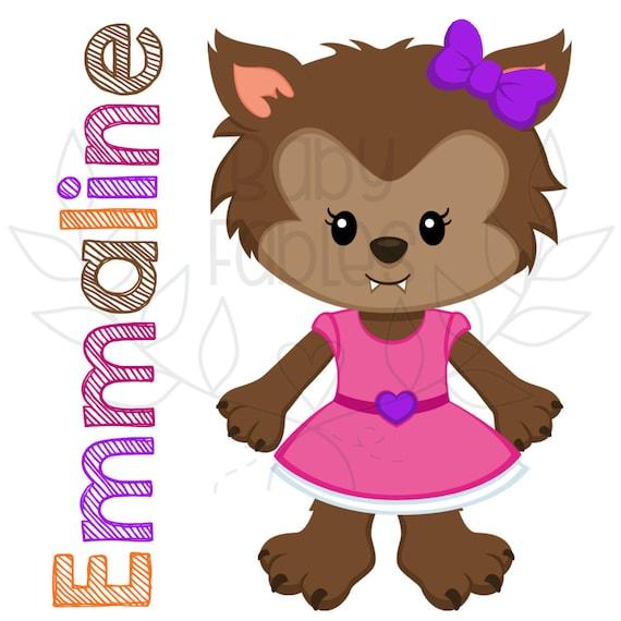Cute Personalized Iron On Werewolf Transfer