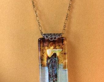 Waterhouse Pre Raphaelite Pendant Necklace