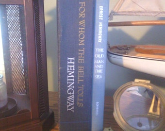 first edition ernest hemingway old man and the sea and for whom the bells tolls set