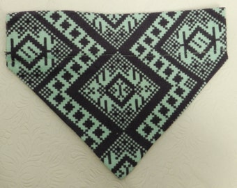 I'm a Nordic Snow Bunny! Cute Blue and Teal Winter Snow Winter Theme Bandana. Custom For UR Ferret Cat Dog. All Bandanas are Reversible.
