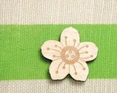 Sakura (Cherry Blossom) Wood Lasercut Brooch Pin