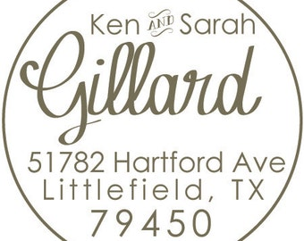 30 Custom Address Labels