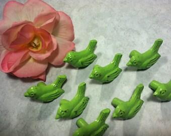 Drawer Pulls, Drawer Knobs, Apple Green Shabby Chic Knobs - Set of 2 knobs