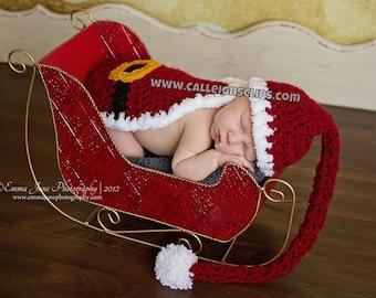 Santa Suit- Cuddle Cape Set  - Newborn Photography Prop