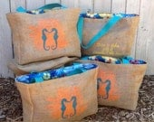 RESERVED FOR LISA 2 Additional Custom Destination Wedding Welcome Beach Tote Bags - Eco-Friendly and Handmade from Recycled Coffee Sacks