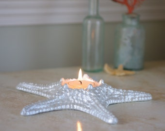 Cast Iron Knobby Starfish Candle Holder Votive - PICK YOUR COLOR