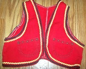 70s Kids Rick Rack Hippie Vest