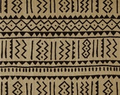 Sultana Burlap Tribal Jute fabric by the yard / African fabric/ Woven tribal print/ African accessories