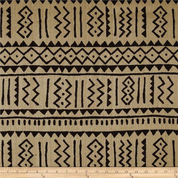 Sultaninen Sackleinen Tribal Jute Stoff Von Hof Afrika Stoff