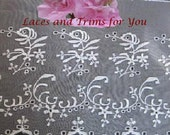 White Lace Trim 3 Yards Embroidered Organza Bridal 7 inch I03C Added Items Ship No Charge