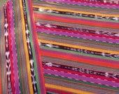 Guatemalan Ikat Fabric in Fiesta Stripes