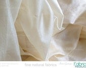 "Scarf fabric. Pure Silk. Ahimsa Peace Silk. Natural Organic Silk fabric, unbleached. 40g. Natural cream color. 42"" width."