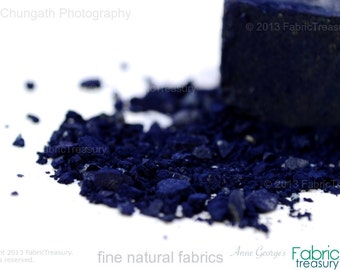 Indigo extract cake Natural dye.  Indigofera Tinctoria. Dye fabric & yarn. Soulful blues. Harvest of January 2017.  Freshest dyes. Always.