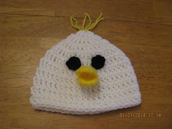 Newborn Crochet Chicken Hat Pattern : Items similar to Hen Chicken Hat crochet newborn size ...