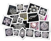 Silver tone Crystal / Pearl Brooch & Buttons Mix BULK - X 10 peices *RANDOM*
