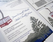 Heavenly Mountain Tram - Lake Tahoe - Ski Wedding Invitations